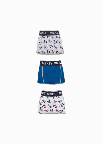 Three-pack stretch Mickey Mouse boxer shorts