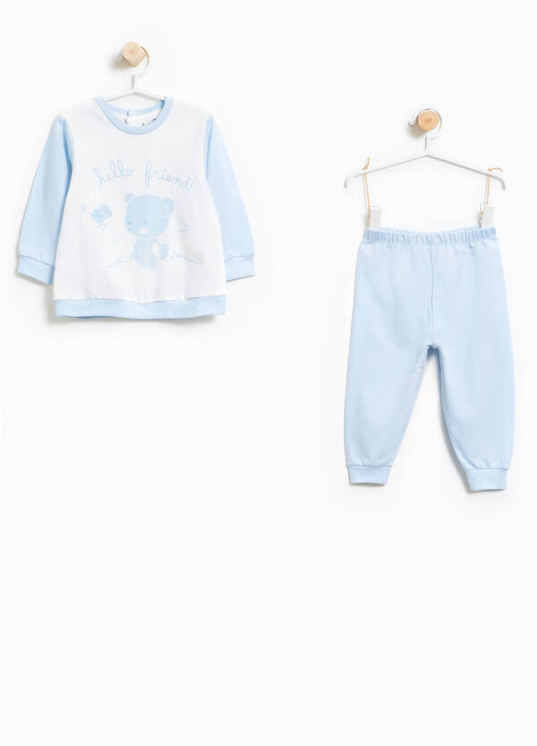 Cotton pyjamas with maxi teddy bear print | OVS