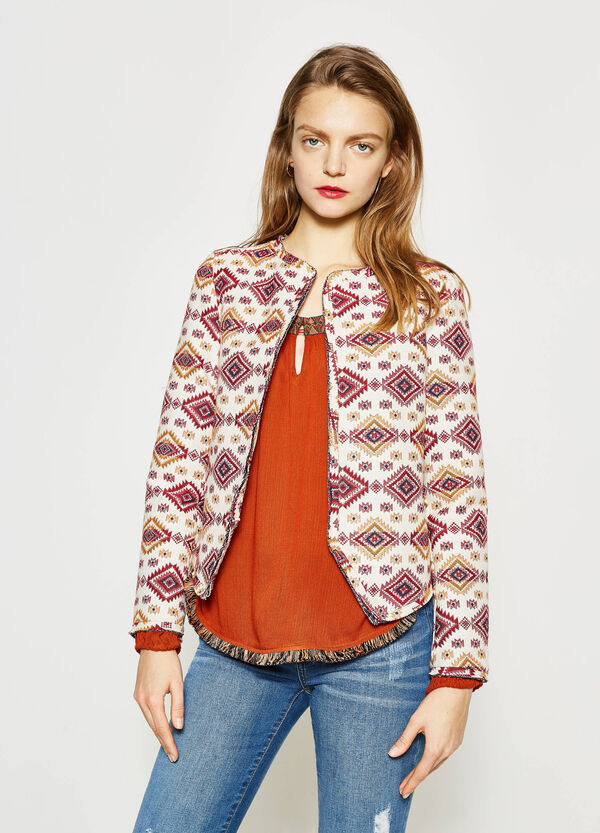Cotton print blazer | OVS