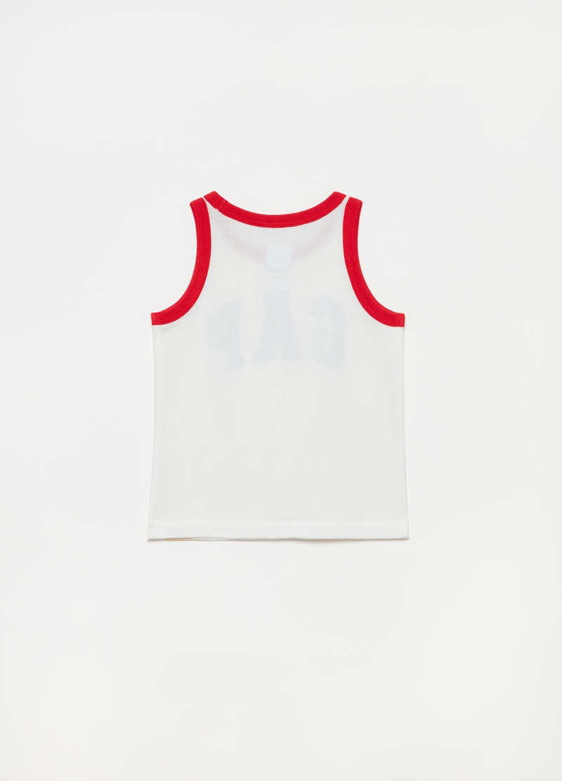 GAP cotton tank top with logo image number null