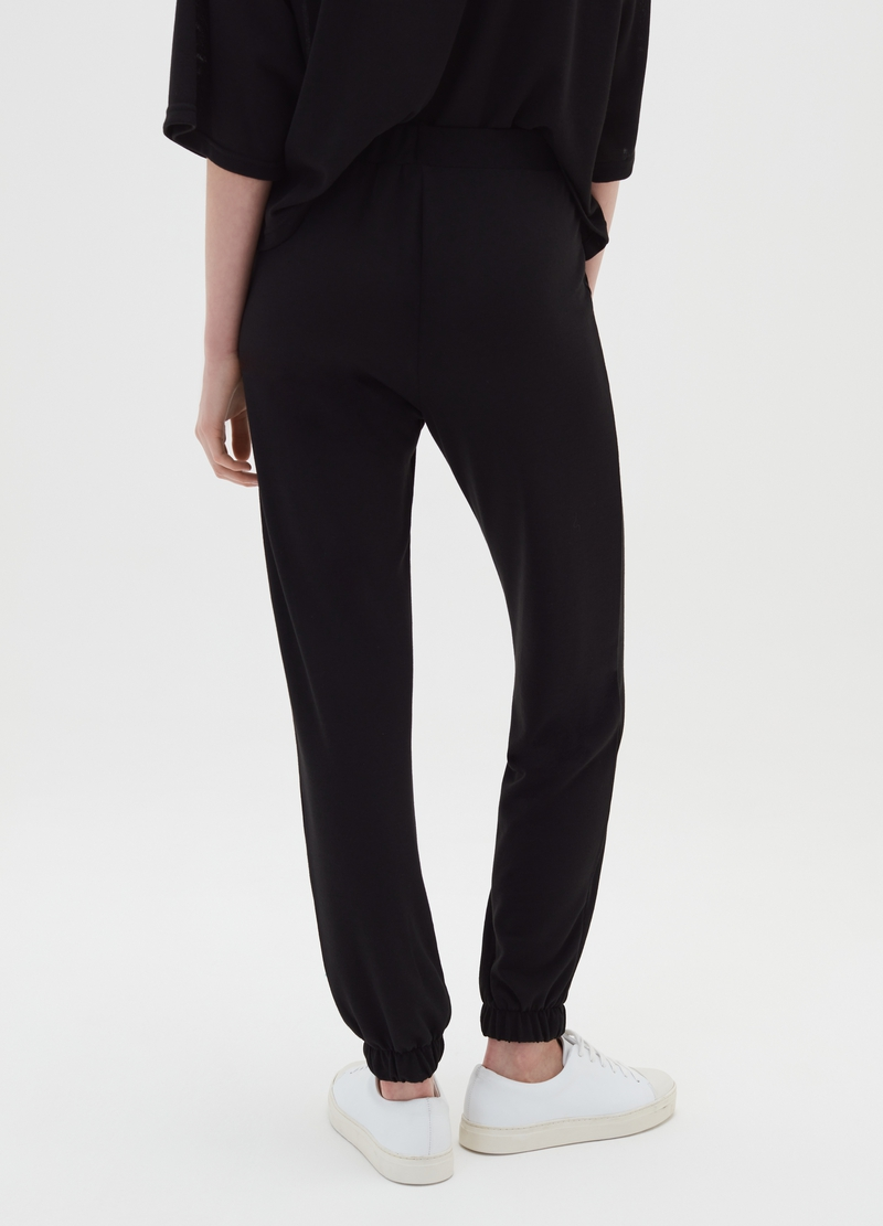 Stretch trousers with elasticated ankles image number null