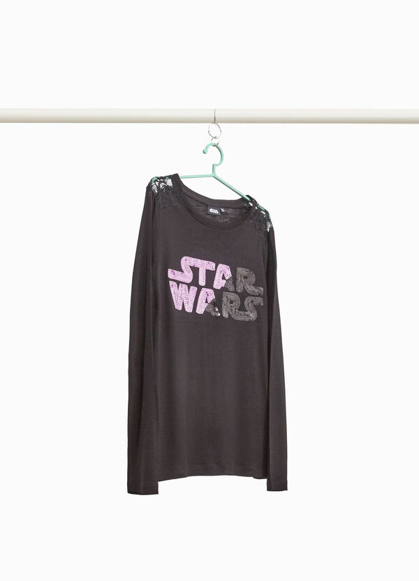 T-shirt pizzo e paillettes Star Wars