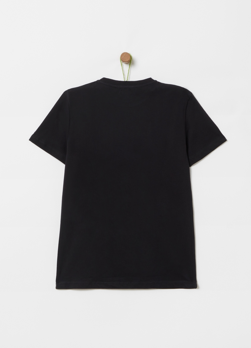 100% cotton T-shirt with print image number null