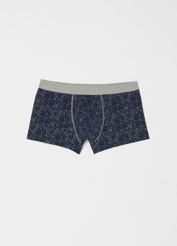 Three-pack stretch boxer shorts with external elastic
