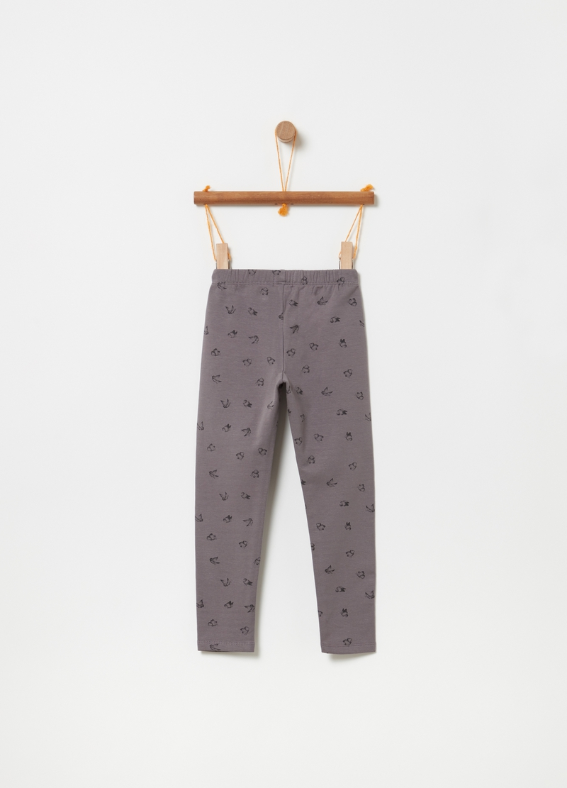 Fleece trousers with butterfly print image number null