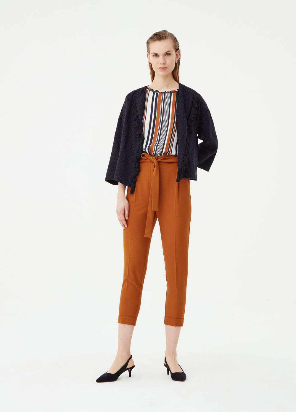 Pantalone carrot fit stretch