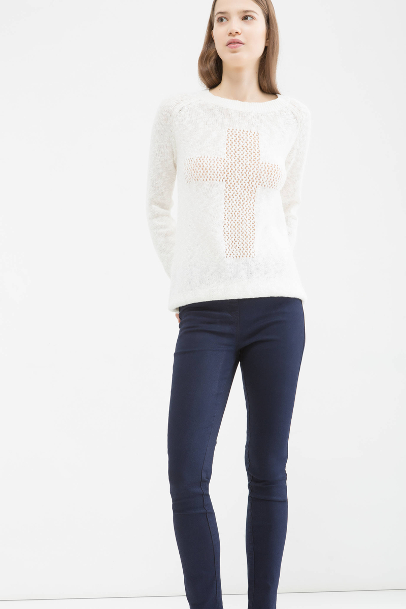 Stretch cotton blend jeggings image number null
