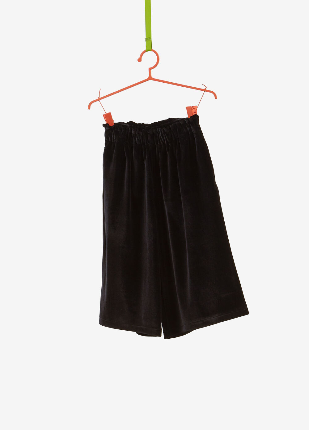 Solid colour stretch culottes