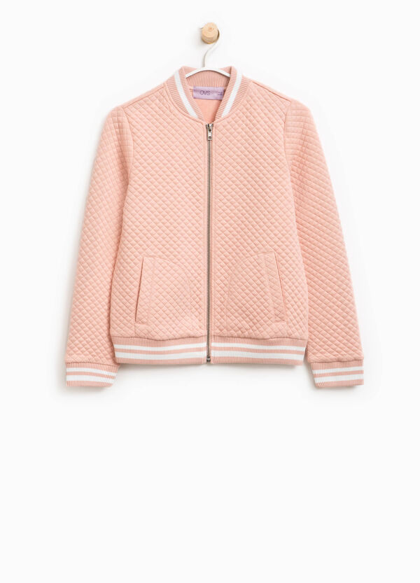 Diamond weave bomber jacket | OVS