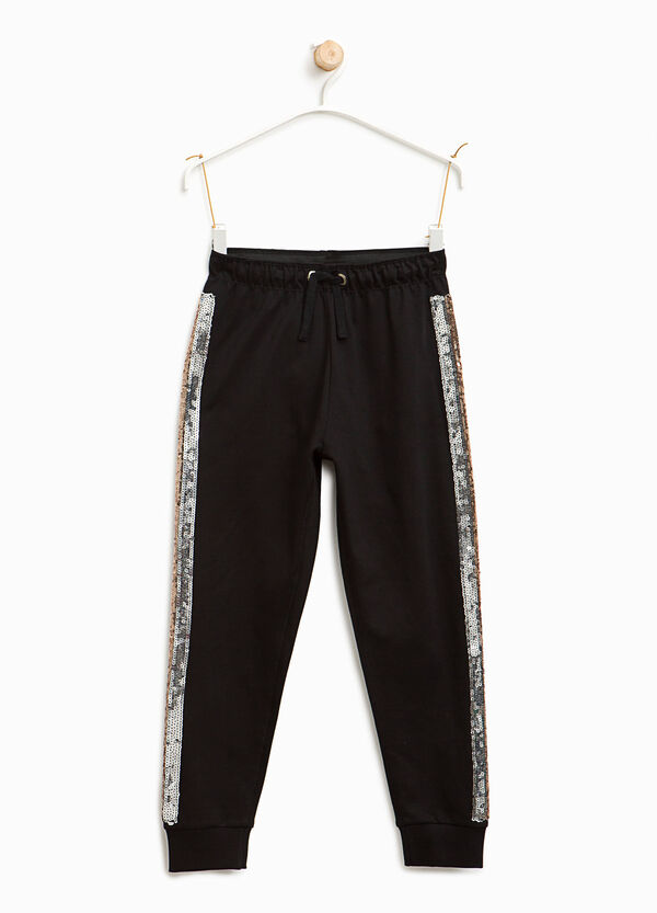 Joggers with sequin bands | OVS