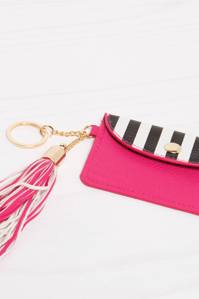 Striped pattern keyring