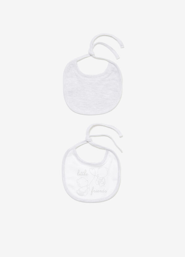 Two-pack printed cotton bibs