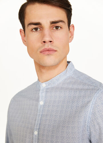 Cotton casual shirt with all-over print