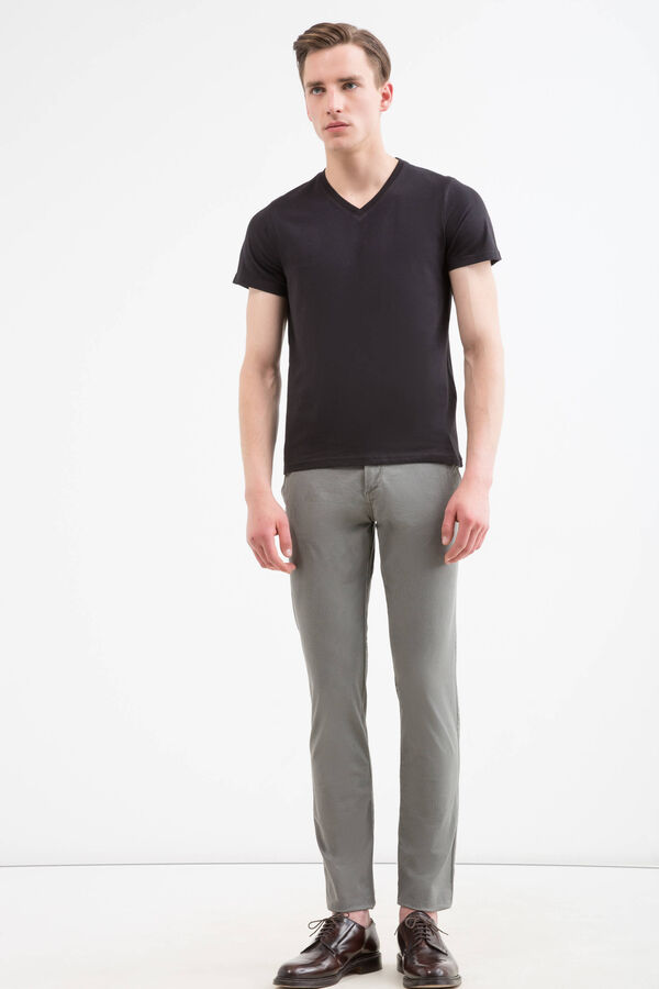 Pantaloni chino twill di cotone regular fit | OVS