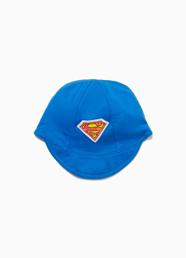 Cappello con visiera patch Superman