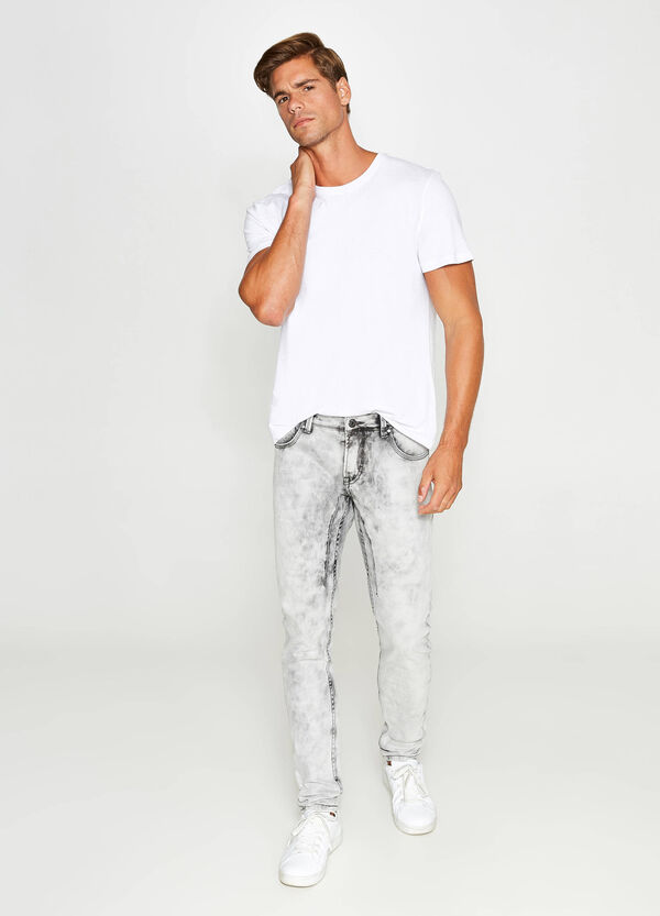 Jeans skinny fit stretch maltinti
