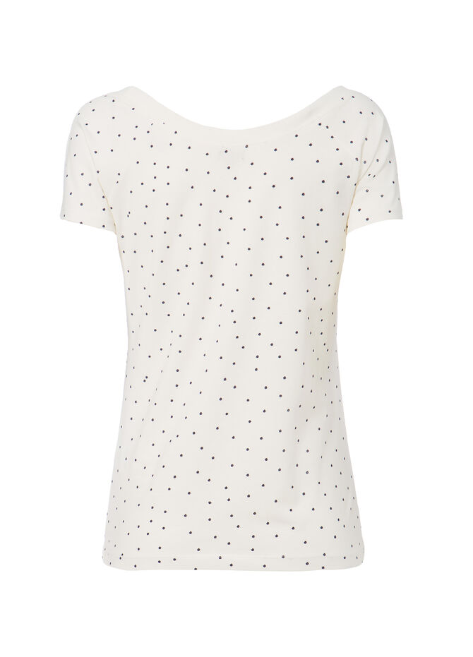Smart Basic patterned stretch T-shirt