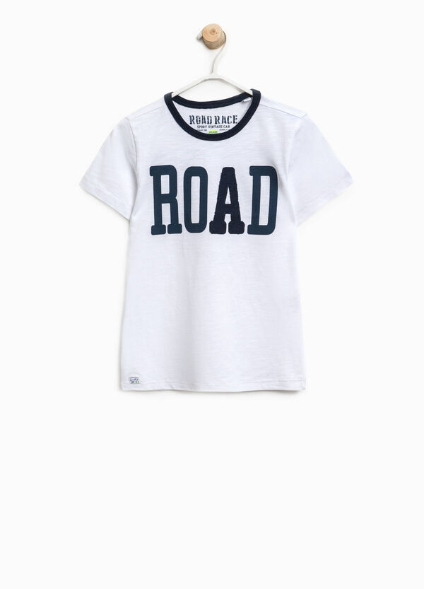 Cotton T-shirt with lettering print   OVS