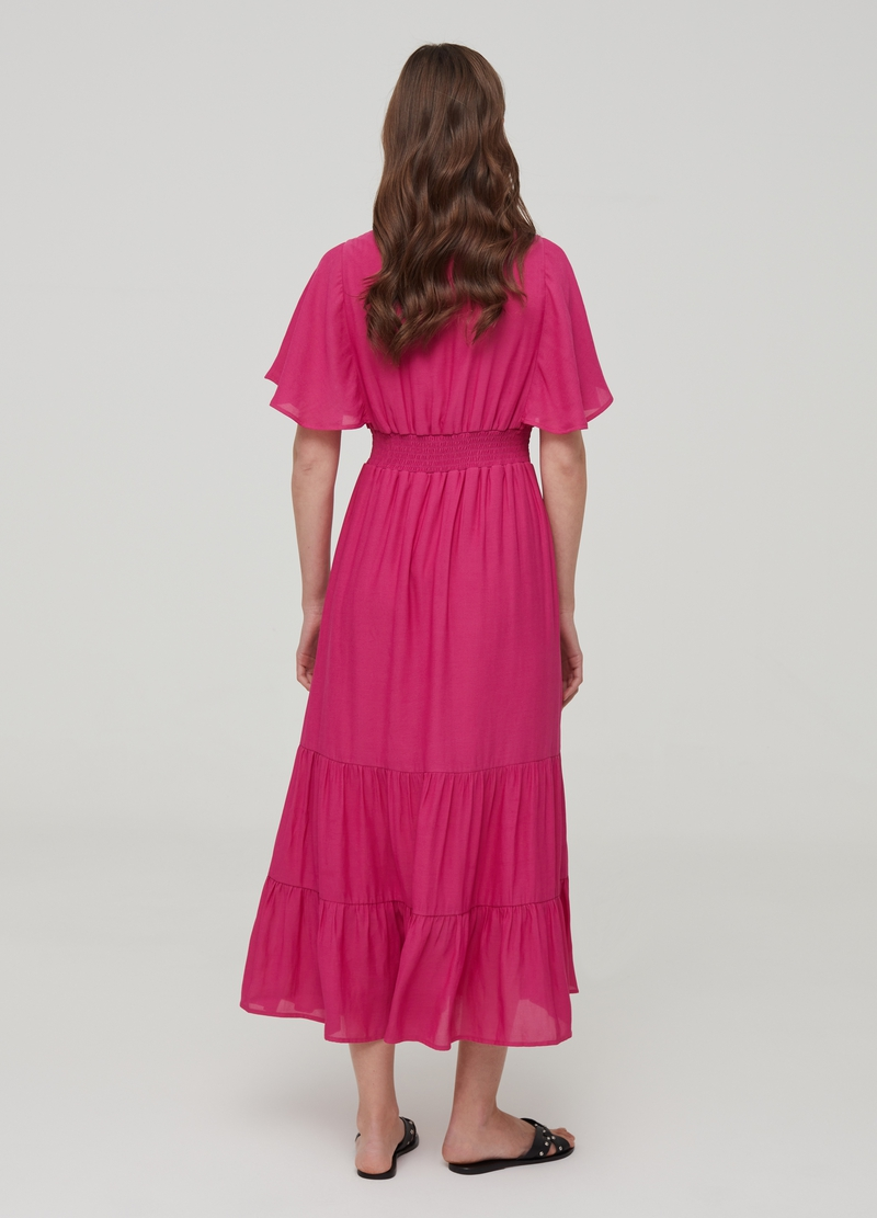 Long dress with flounces image number null