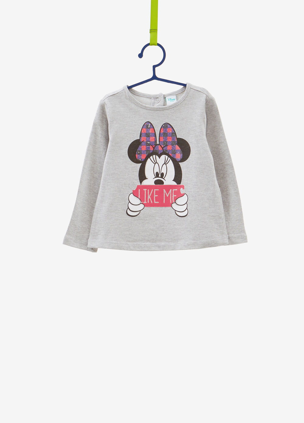 Glitter Minnie Mouse T-shirt in 100% cotton