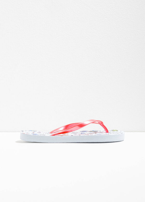 Rubber flip flops with all-over print | OVS