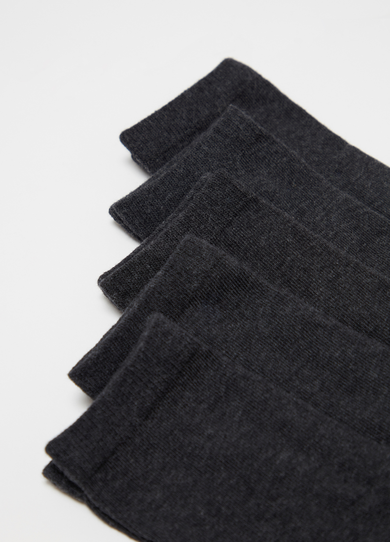 Five-pair pack short socks in warm cotton image number null