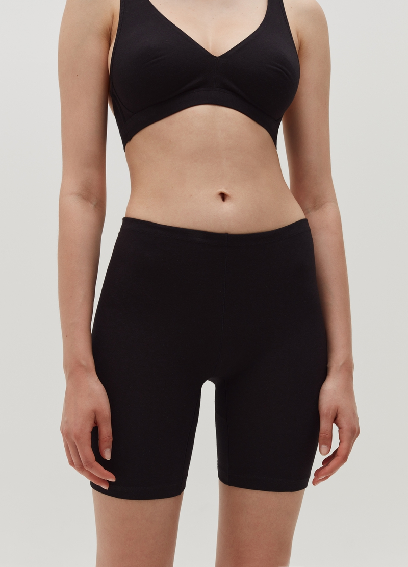 Stretch cotton cycling leggings image number null