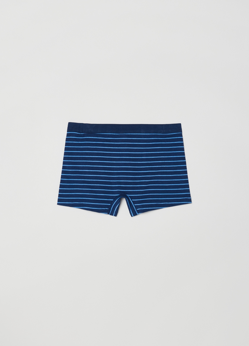 Boxer in cotone stretch a righe image number null