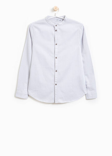 Cotton shirt with Mandarin collar