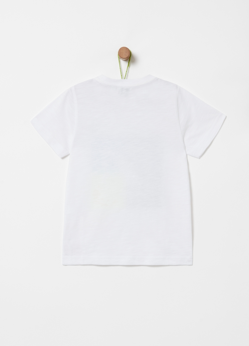 Iridescent-effect 100% cotton T-shirt image number null