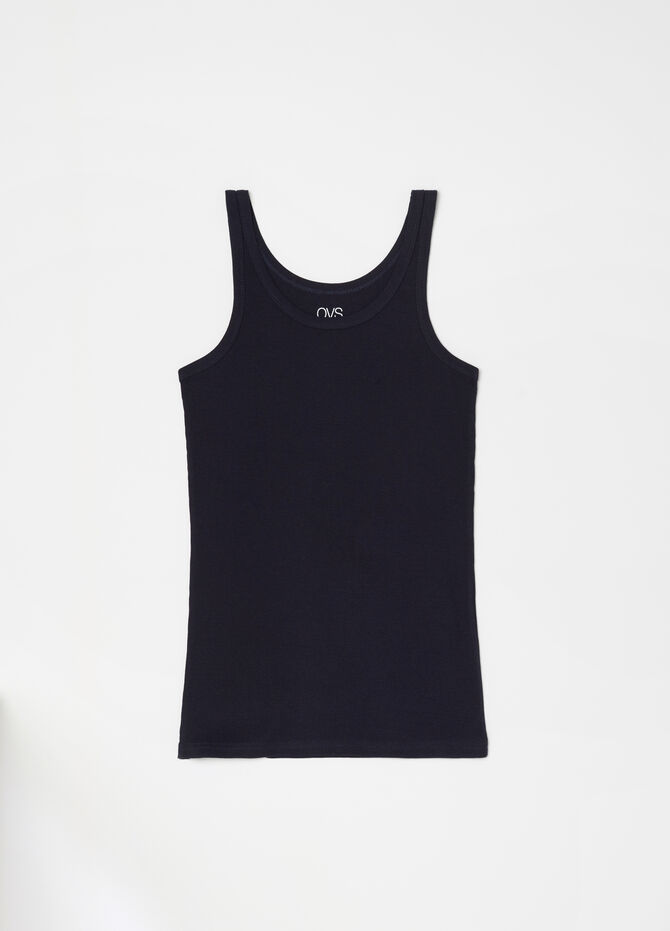 Thick ribbed racerback vest in 100% cotton