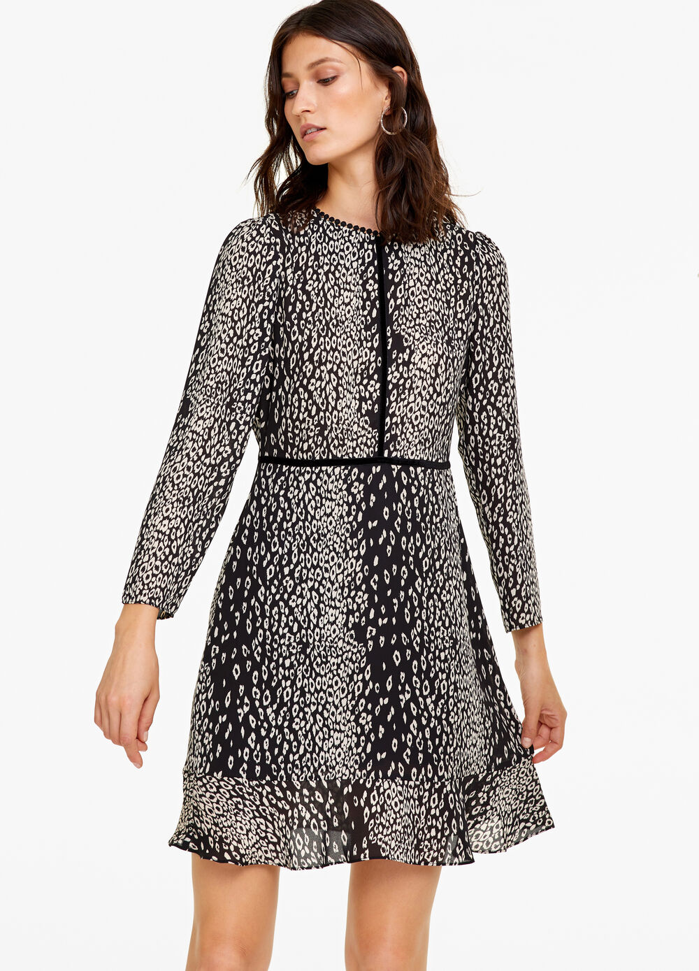 Dress with all-over animal print