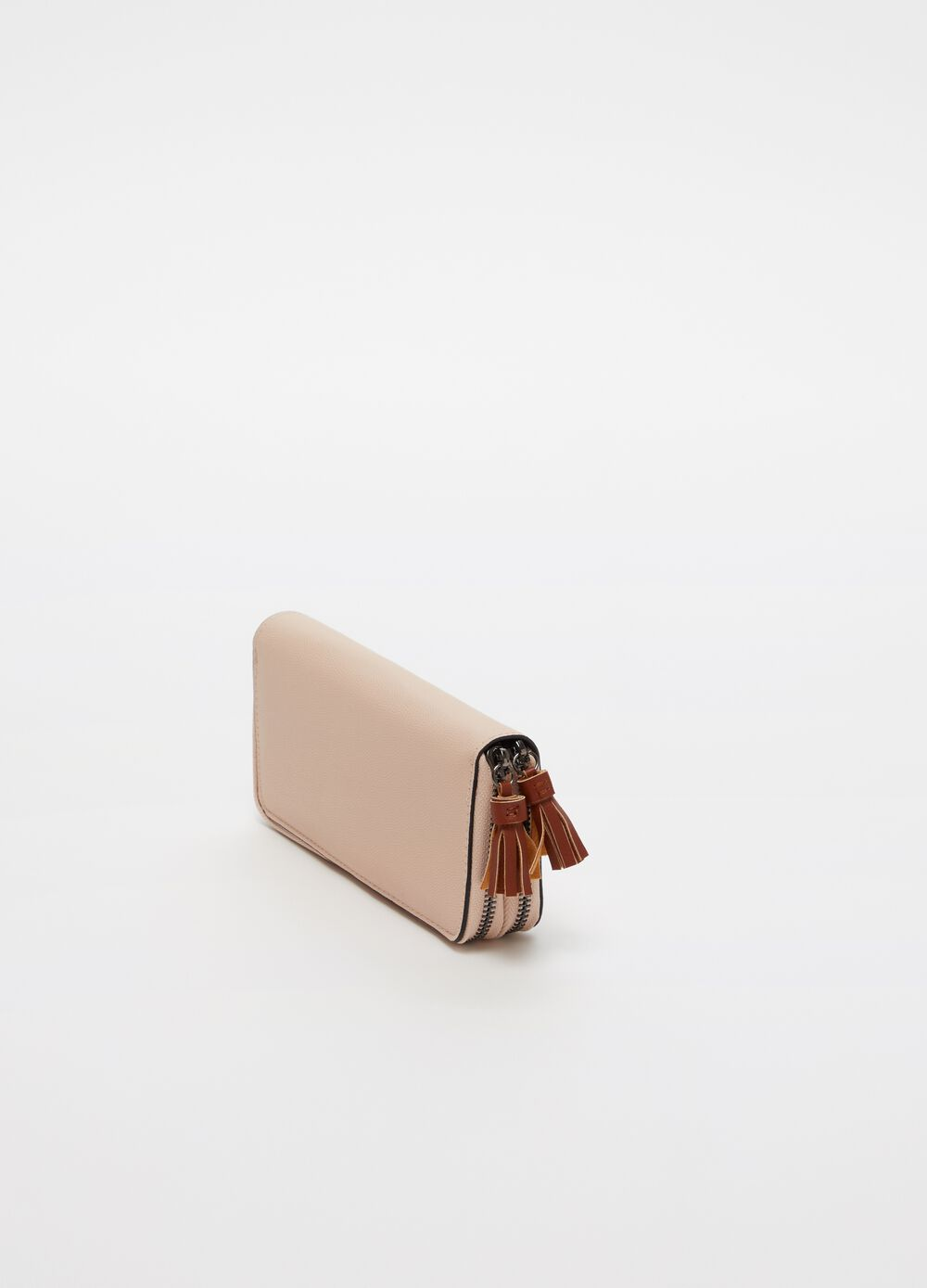 Rectangular wallet with double compartment