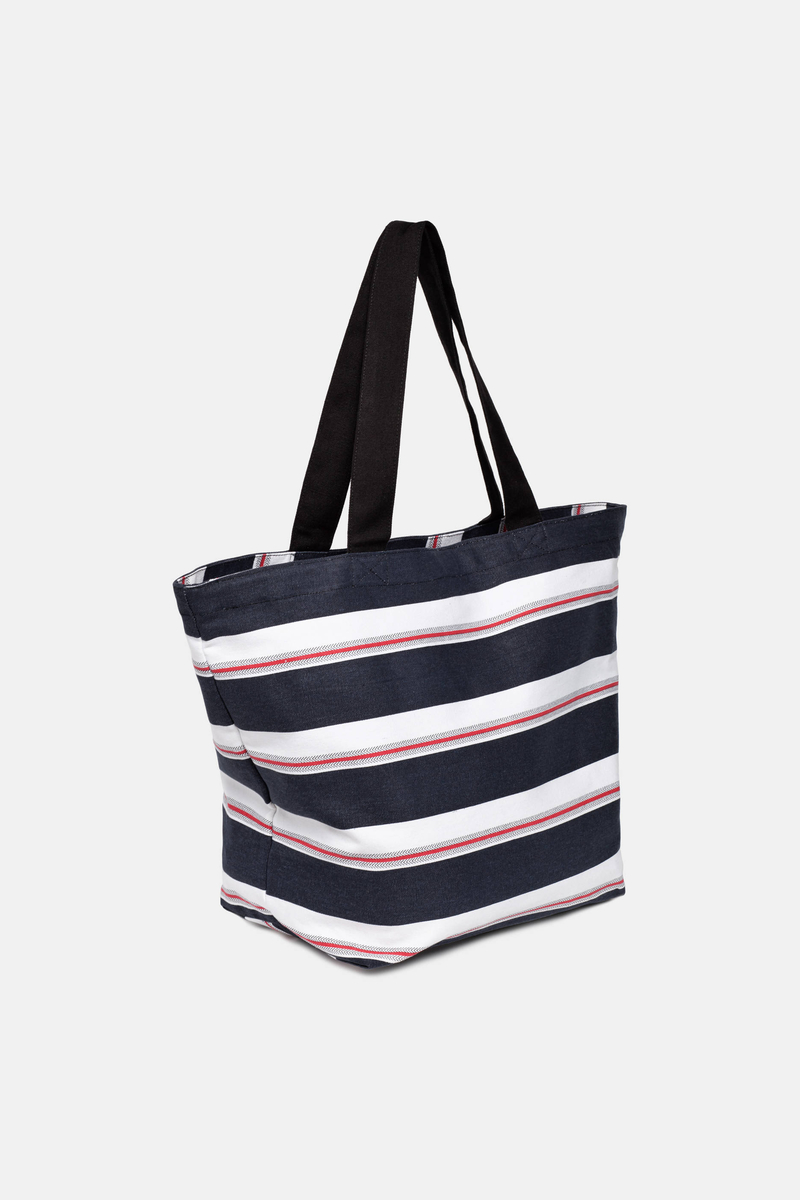 Striped beach bag image number null