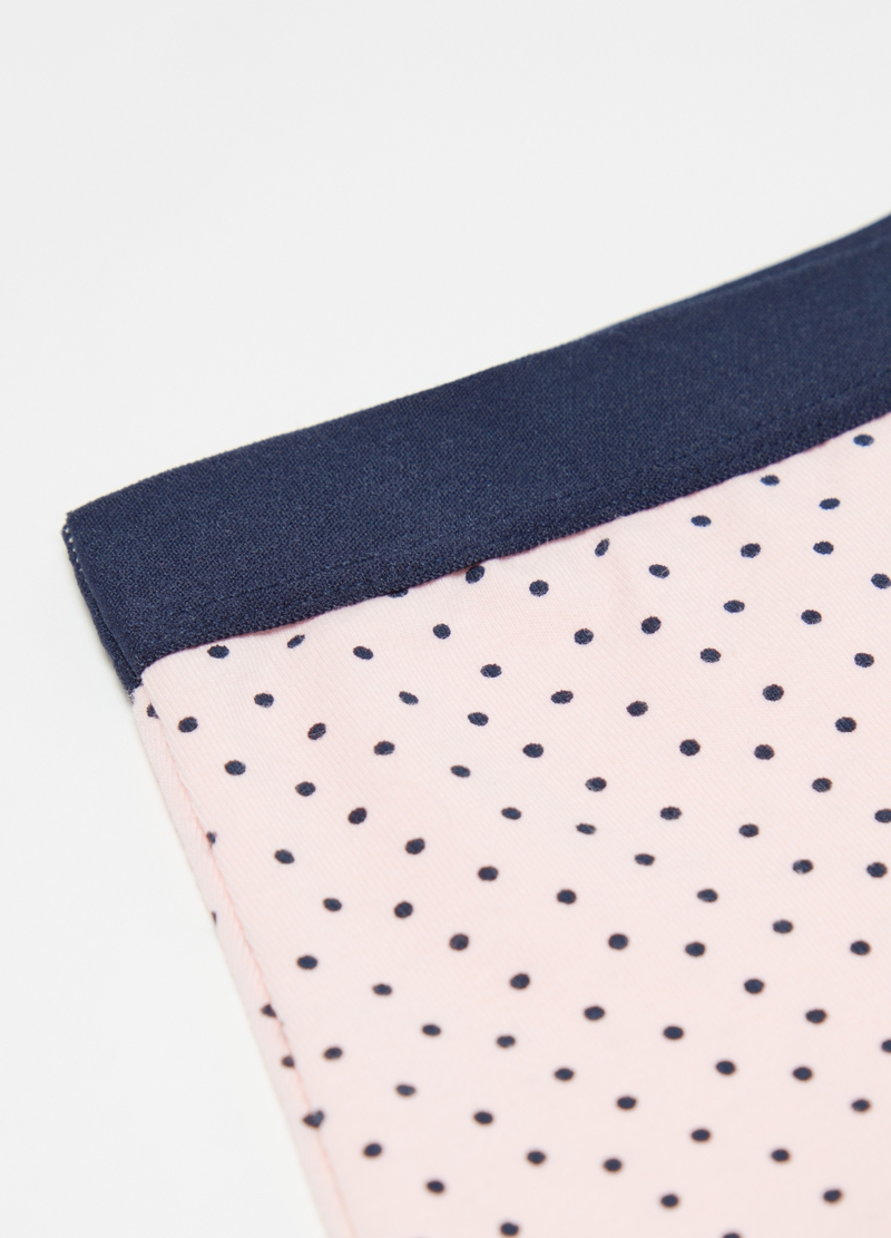 Stretch French knickers with polka dots image number null