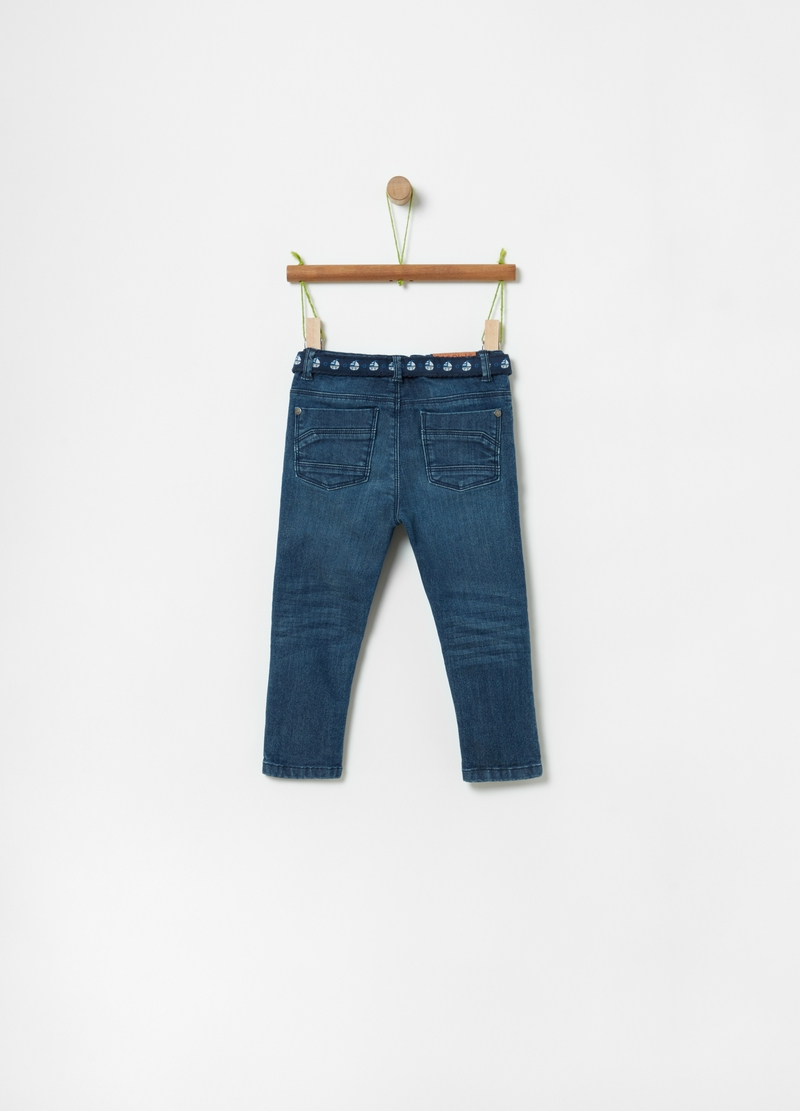 100% cotton regular-fit jeans image number null