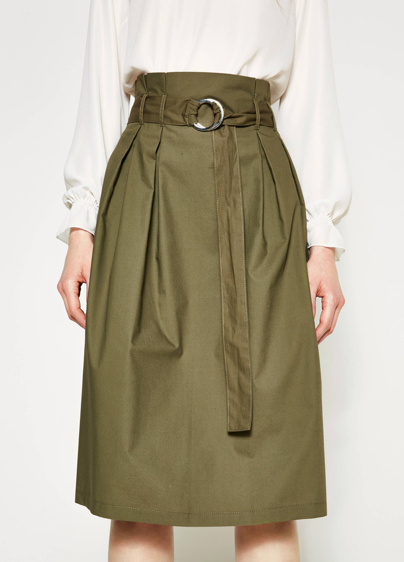 Longuette skirt with belt image number null