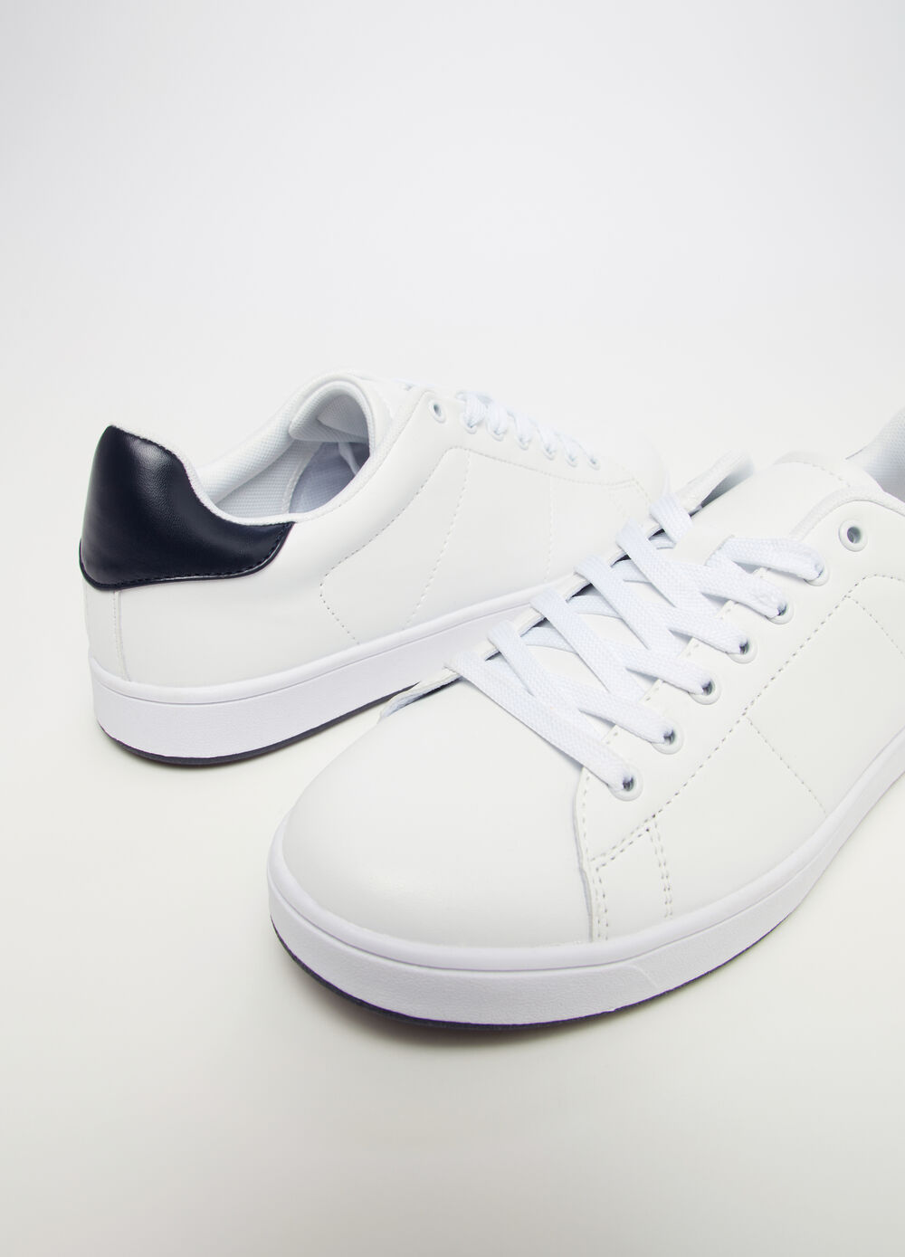 Leather-look sneakers