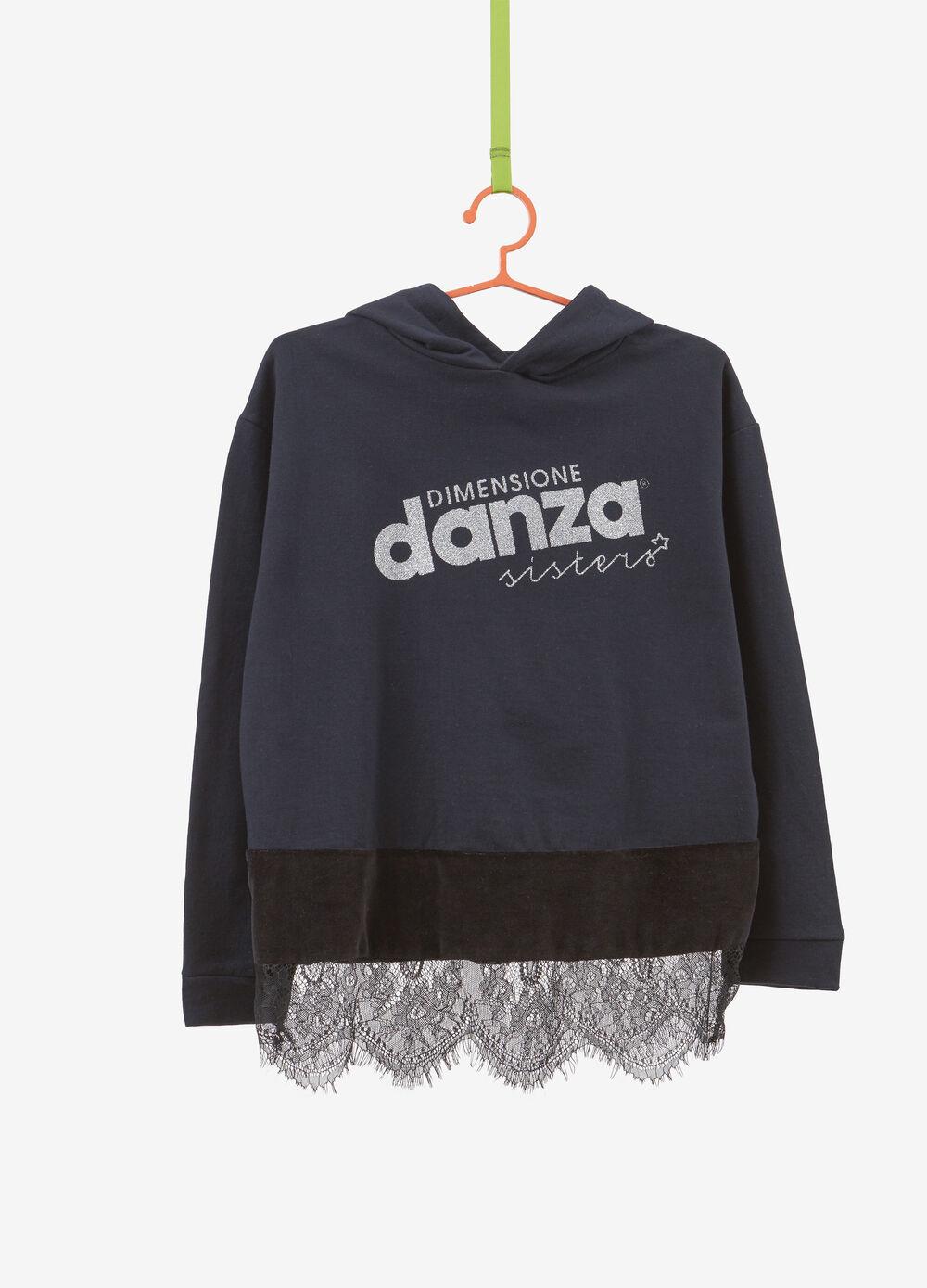 Dimensione Danza cotton blend sweatshirt with lace