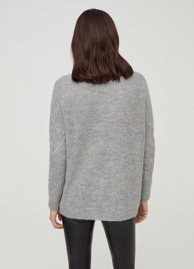 Pullover misto lana e mohair con lurex image number null