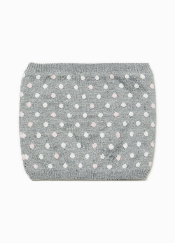 Knitted polka dot neck warmer