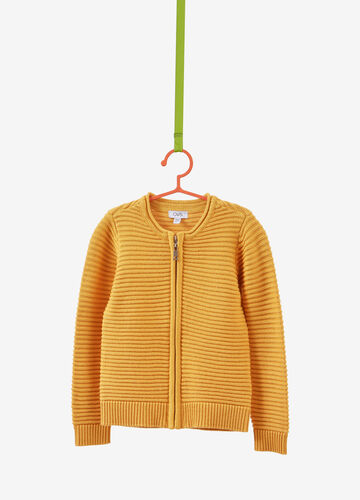 Solid colour knitted cardigan