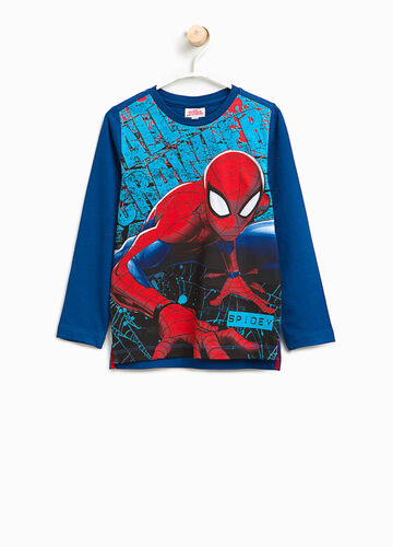 T-shirt in cotone stampata Spiderman