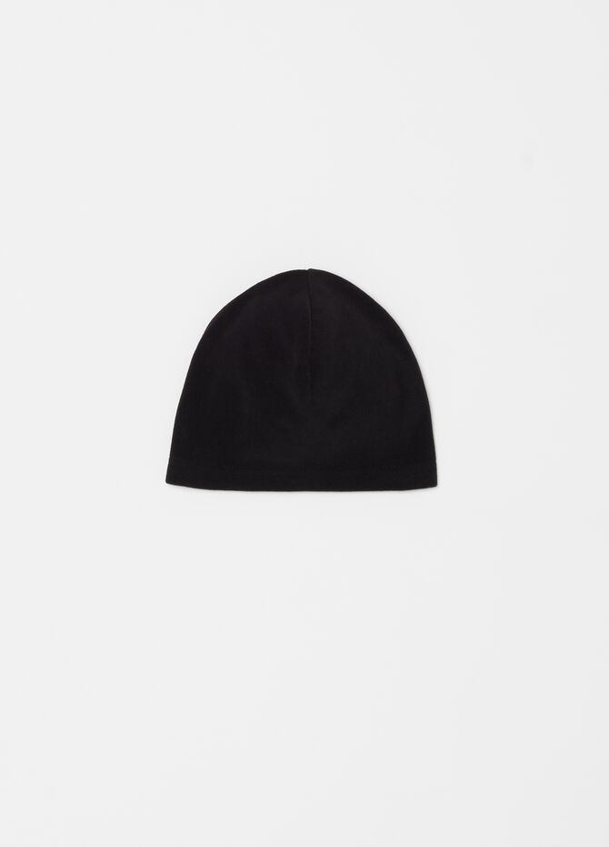 Solid colour fleece hat