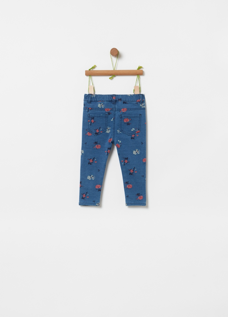 Jeans stretch con stampa all-over image number null