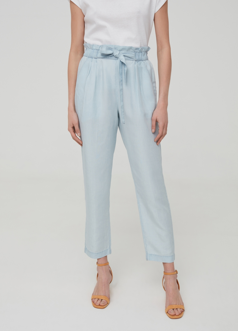 Wide-leg jeans in Lyocell image number null