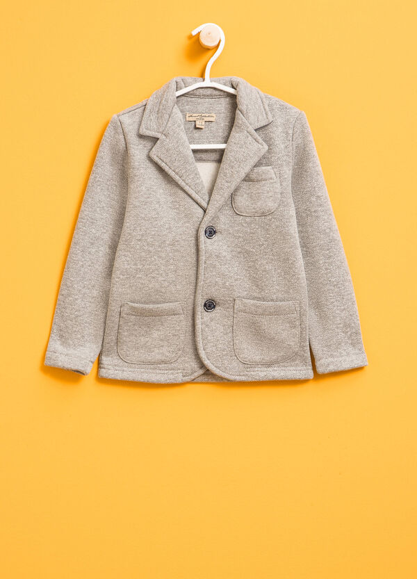 Cotton mélange jacket with two-button fastening | OVS
