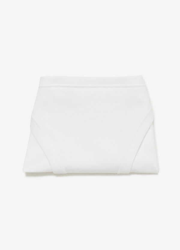 Plain stretch cotton tanga briefs