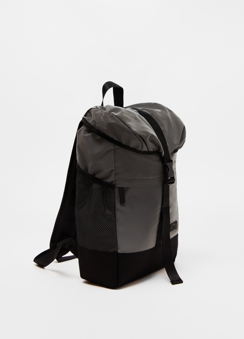 Two-tone backpack with snap buckle image number null