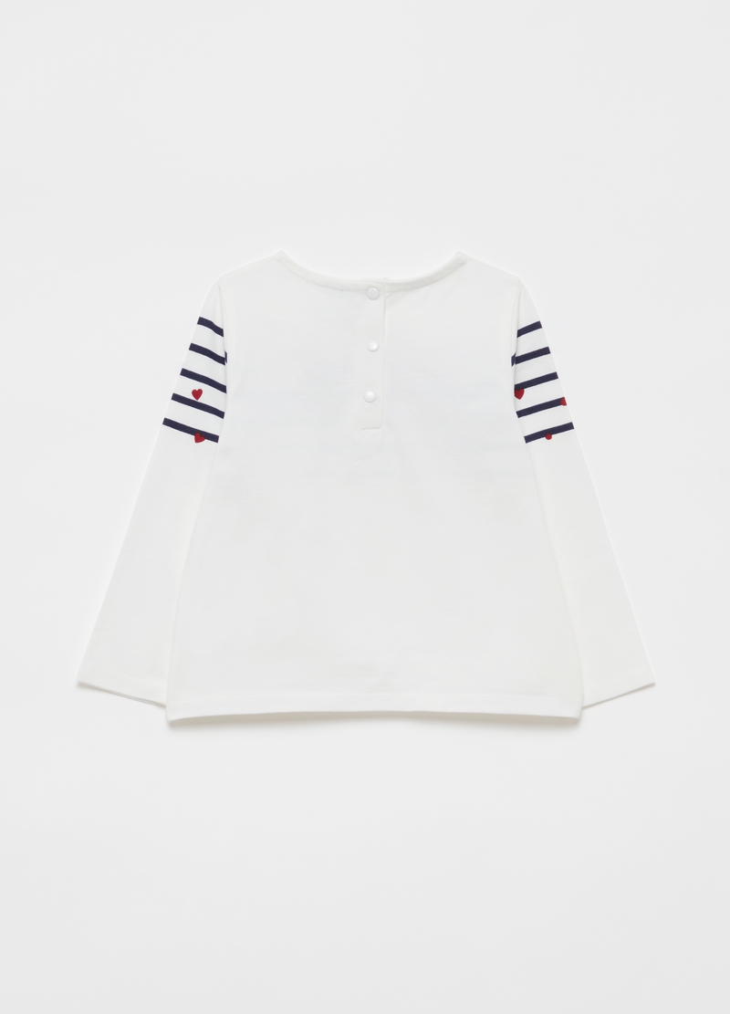 T-shirt maniche lunghe stampa coccinella image number null